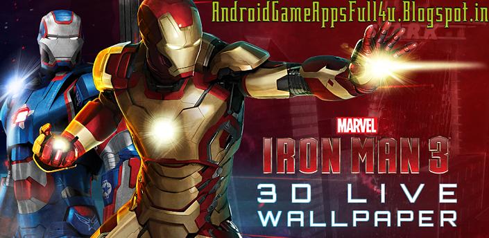 Iron Man 3D V.1.0 Premium_Live Wallpaper+Keyboard Skin