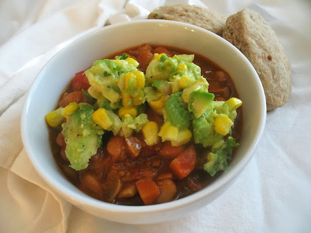 southern-style vegetarian chili