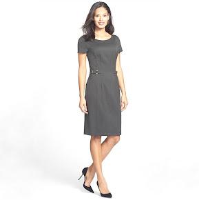 Princess Mary Style - Danota Side Buckle Sheath Dress - BOSS HUGO BOSS