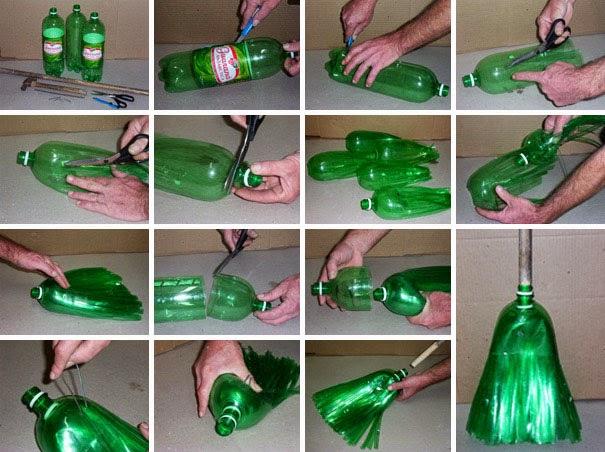sapu yang unik hasil daur ulang sampah botol bekas