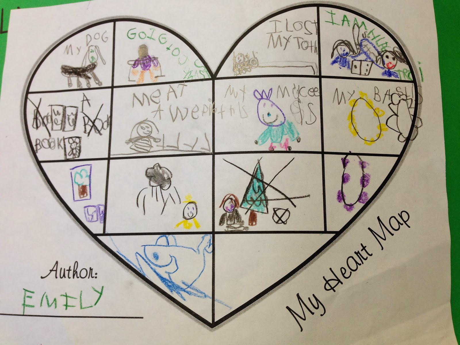 Tales From A K 1 Classroom Heart Maps A List Of Ideas