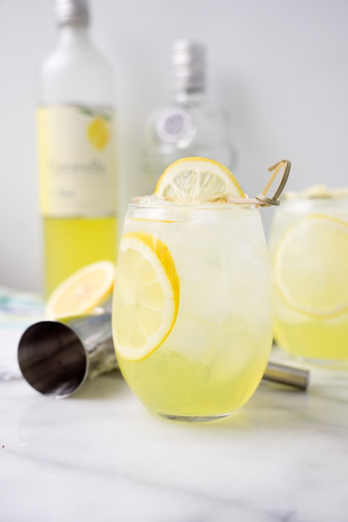 LIMONCELLO VODKA COOLER #healthydrink #vodka