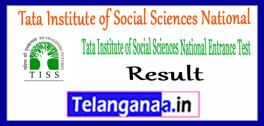 TISSNET Tata Institute of Social Sciences National Entrance Test Exam Result 2018