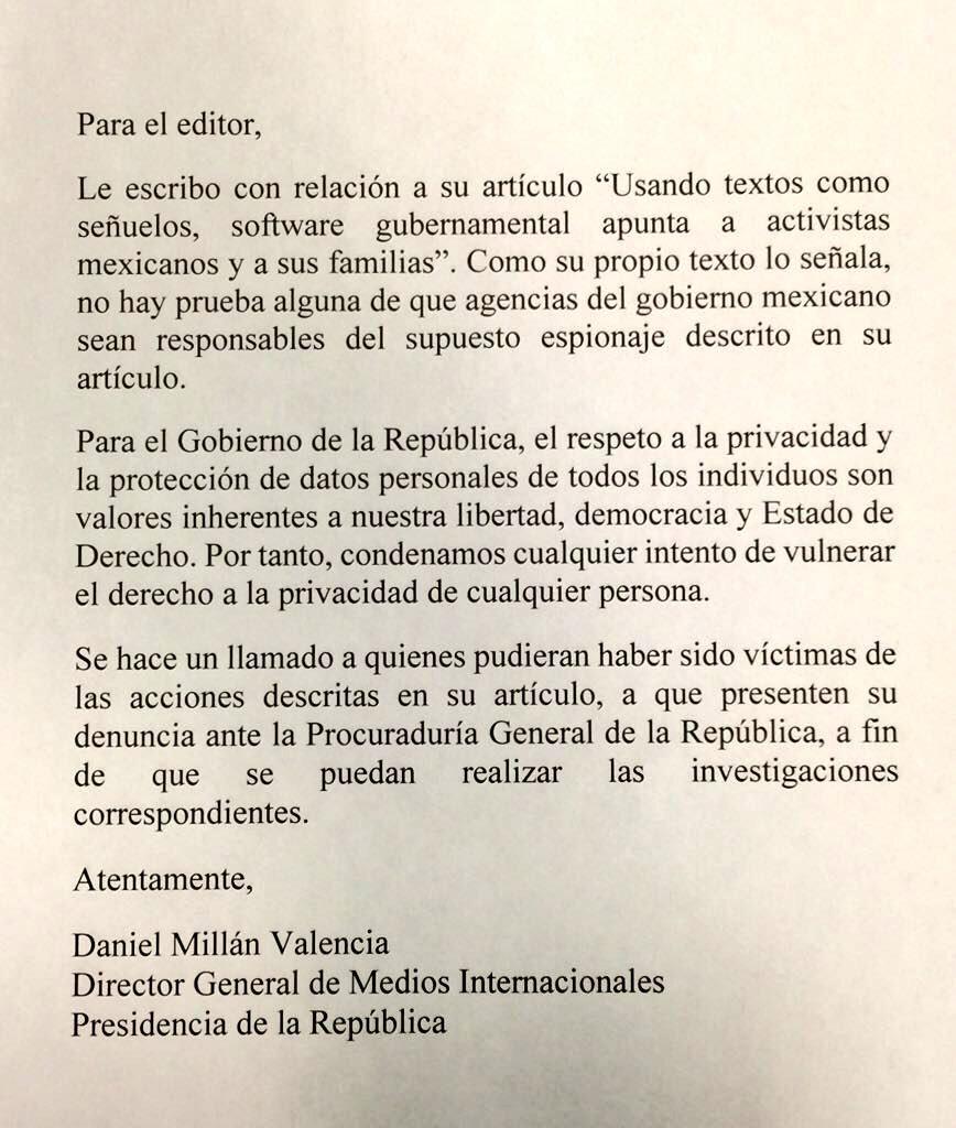 El comunicado del régimen. FOTO: Twitter @ESanchezHdz