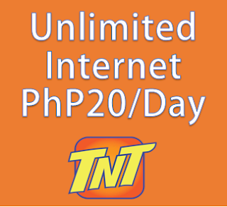 Talk n Text, Unlimited internet, per day, 20 pesos, TNT, 20