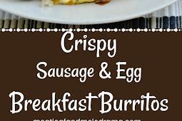 Crispy Sausage Egg Breakfast Burritos