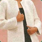 Chaqueta con pequeñas espigas a Crochet