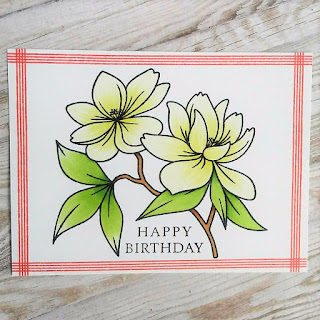 Spring flower card with Make a Wish stamp from Clearly Besotted