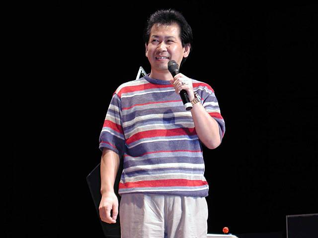 Yu Suzuki on stage