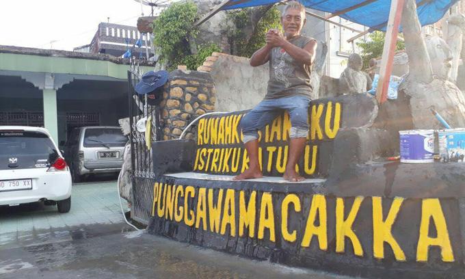 Dukung IYL-Cakka, Warga Palopo Ini Bikin 'Taman' Punggawa Macakka