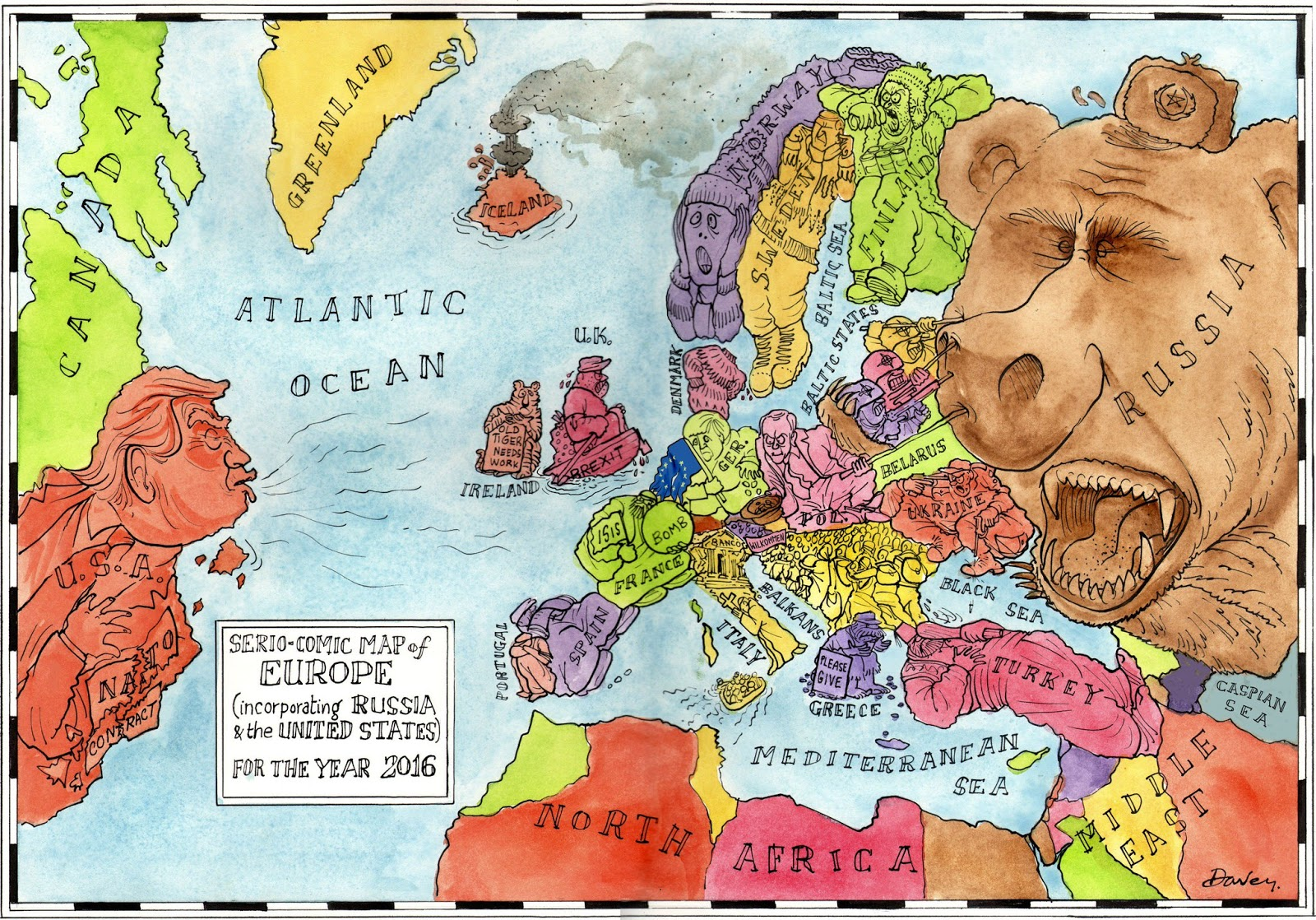 Satirical map of Europe (2016)