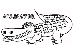 Cute Alligator Coloring Pages With Name