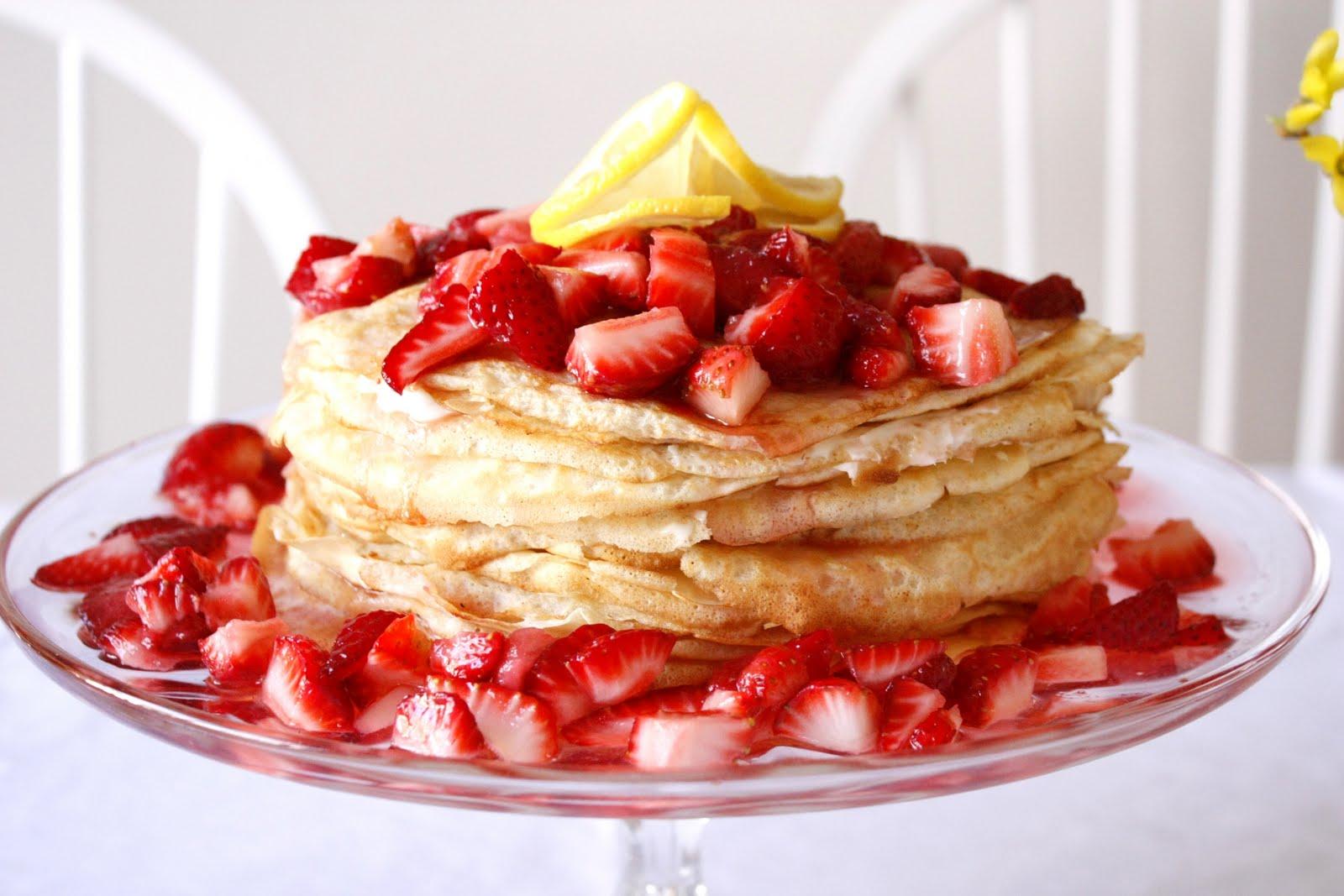 Korean Crepe Cake Recipe: Mamas' Seoul Food: Lemon Strawberry Crepe Cake
