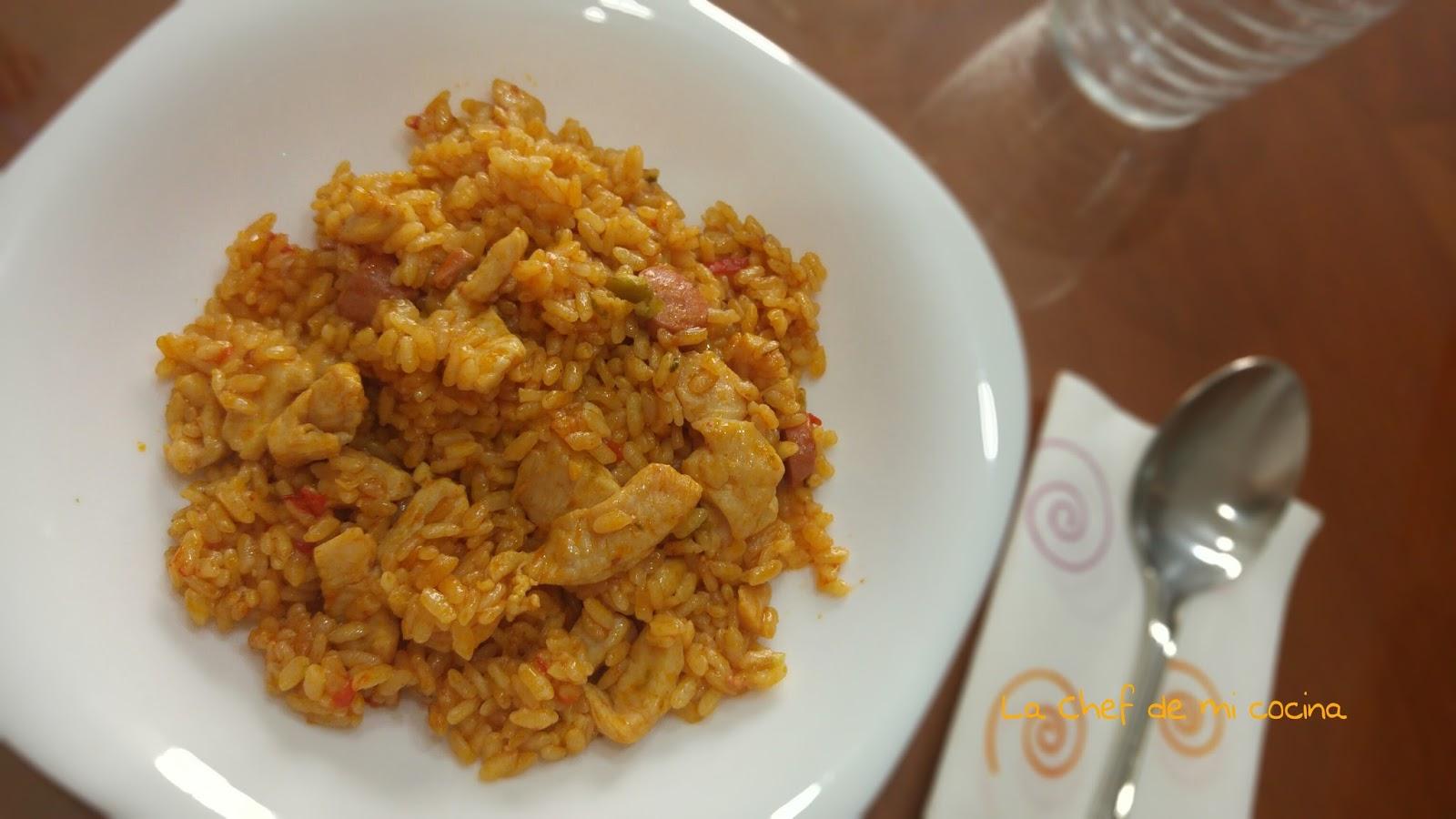 La chef de mi cocina arroz con pollo multicook pro de tefal - Tefal multicook pro recetas ...