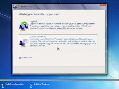 Cara Install Windows 7 (Lengkap disertai Gambar)