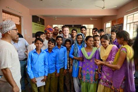 Mark Zuckerberg in Village Chandauli ( India)