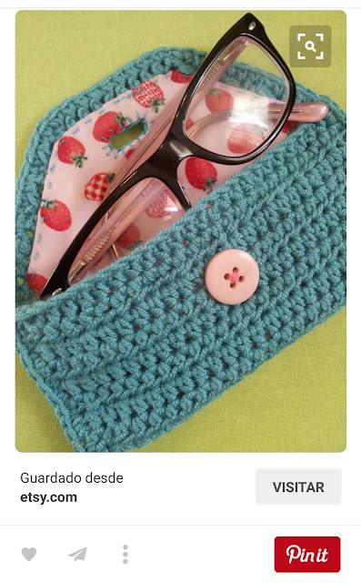 funda de gafas de crochet vista en pinterest