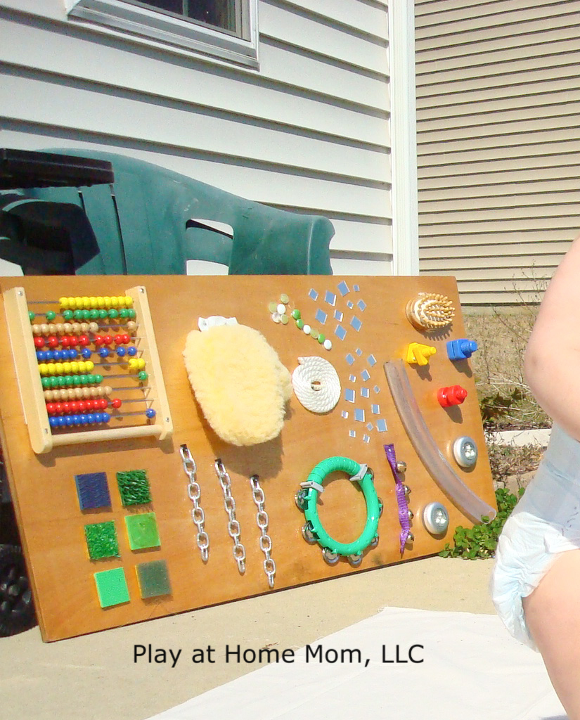 Do It Yourself Home Decorating Ideas: Play At Home Mom LLC: Homemade Sensory Board