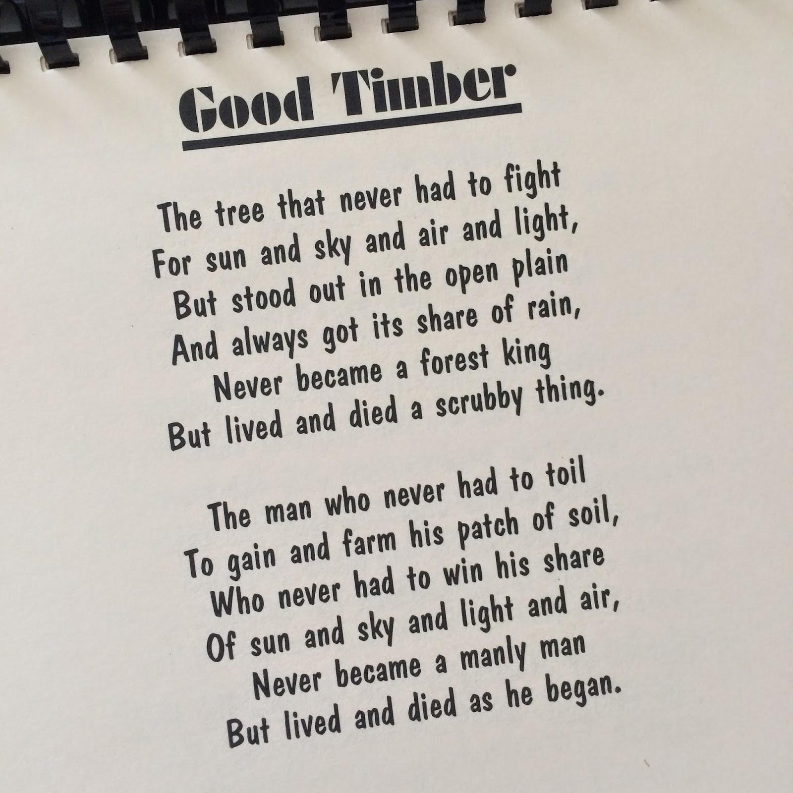 Good Timber Printable