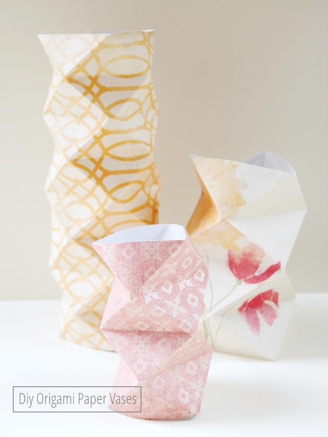 Diy Origami Vases
