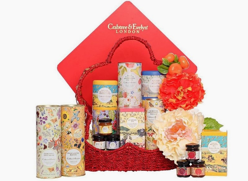 Crabtree & Evelyn Abundance Fine Food Hamper, Crabtree & Evelyn, CNY Fine Food Collection 2015, Chinese New Year Fine Food Hamper, Fine Food, Pear and Pink Magnolia Bath and Body, Crabtree & Evelyn CNY, CNY 2015