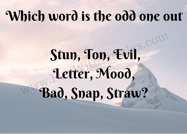 Odd One Out Word Brainteaser