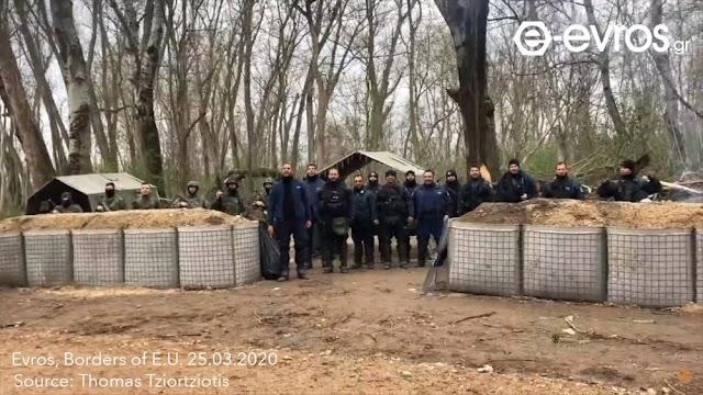 Περηφάνια: Έλληνες Στρατιωτικοί και Αστυνομικοί ψάλουν τον Εθνικό Ύμνο στα σύνορα με την Τουρκία (ΒΙΝΤΕΟ)