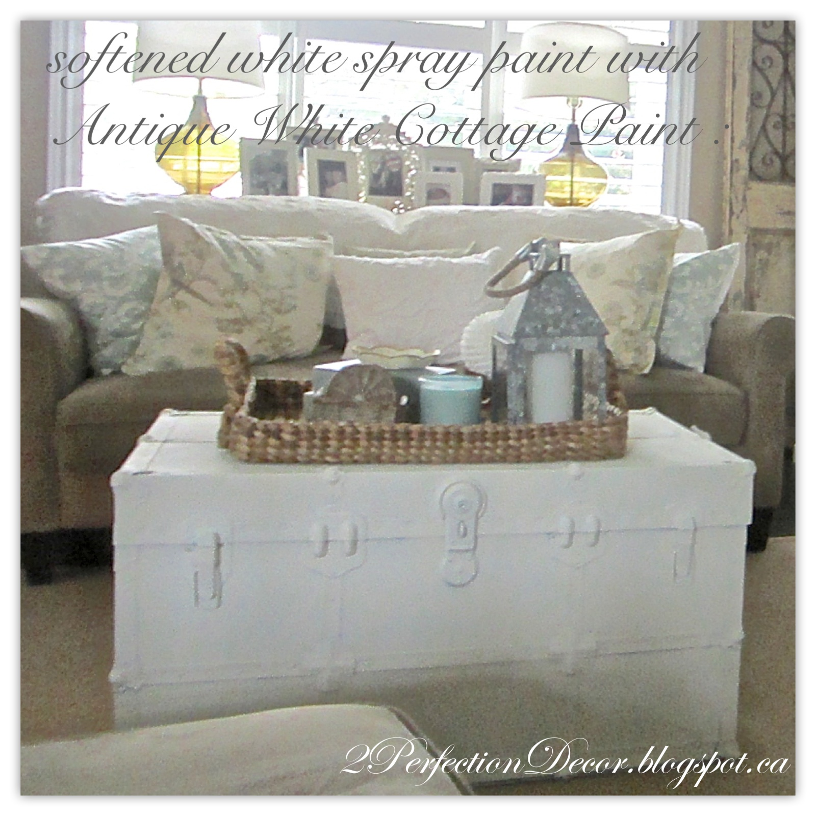 2perfection Decor Painted Vintage Trunk Makeover
