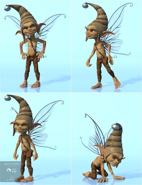 Impish Poses for 3D Universe Pixie