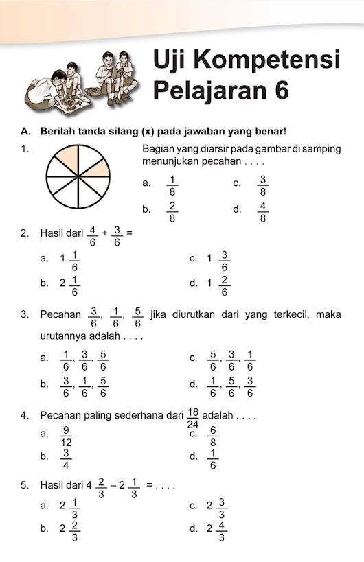 Soal Pecahan Kelas 3 : pecahan, kelas, Matematika, Kelas, Pecahan, Kunci, Dunia