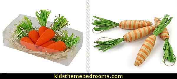 Carrots Vegetable Oranment Rabbit's Gift Decoration Easter Party Decor