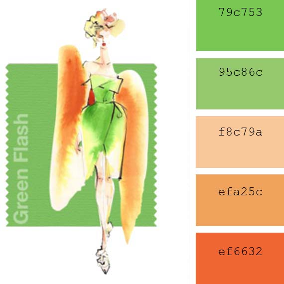colores de moda pantone primavera 2016 verde flash