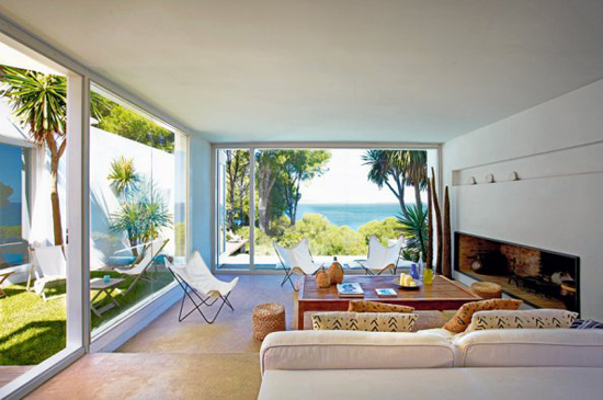 A contemporary summer house in Costa Brava, Spain, via Marie Claire Maison.