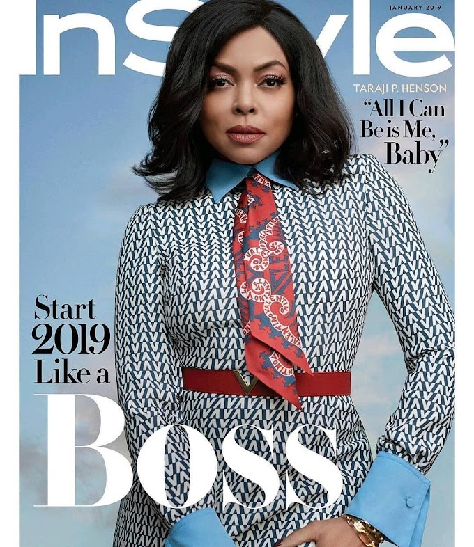 Taraji P. Henson covers InStyle Magazine's January 2019 Issue
