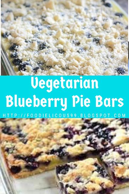 Vegetarian Blueberry Pie Bars