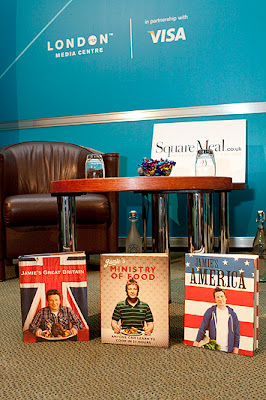 Jamie Oliver set-up inside the 2012 London Media Centre