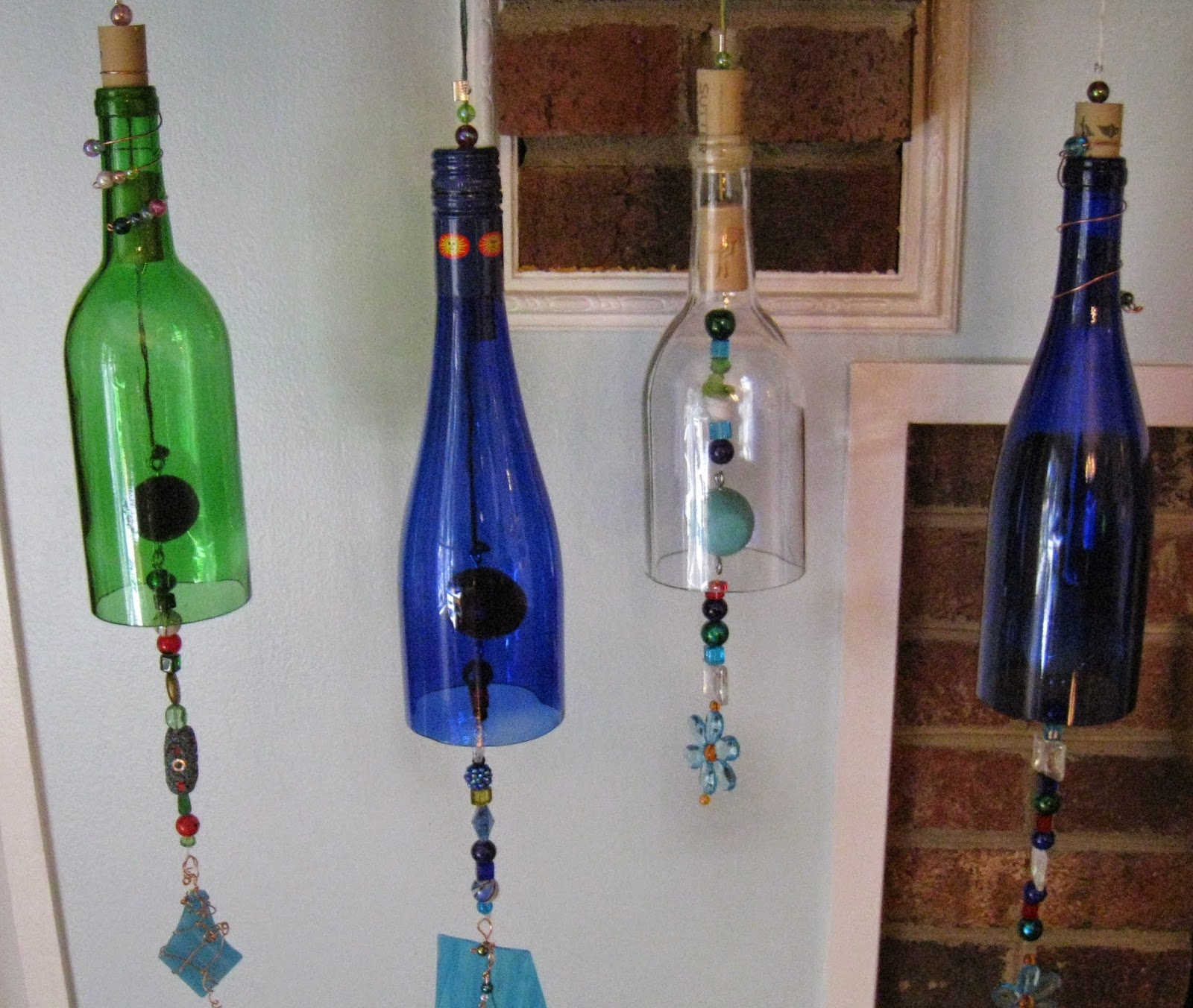 Repurposed for life wine bottle wind chimes for How to make wine bottle crafts
