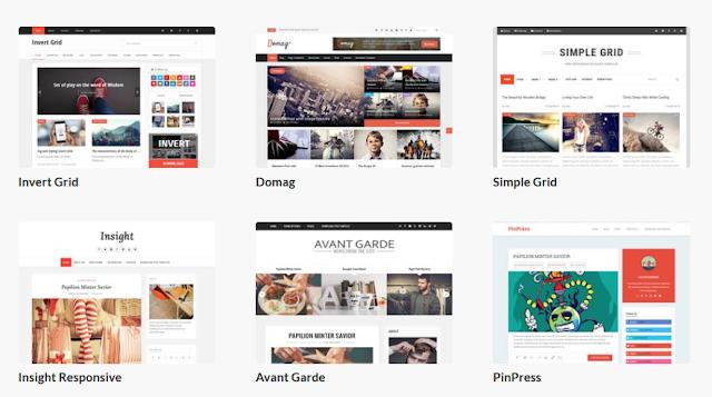 template portofolio blogger terbaik