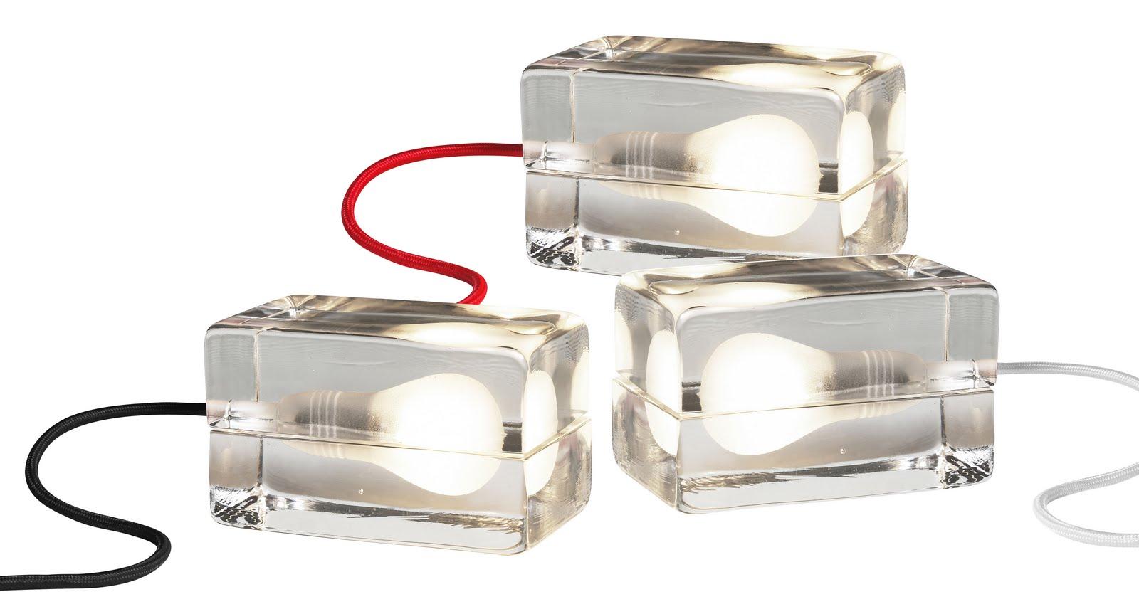 Relatively Glass Light Block Table Lamp | modern design by moderndesign.org ZM14