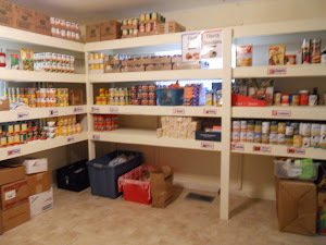 New Shelving in Food Pantry