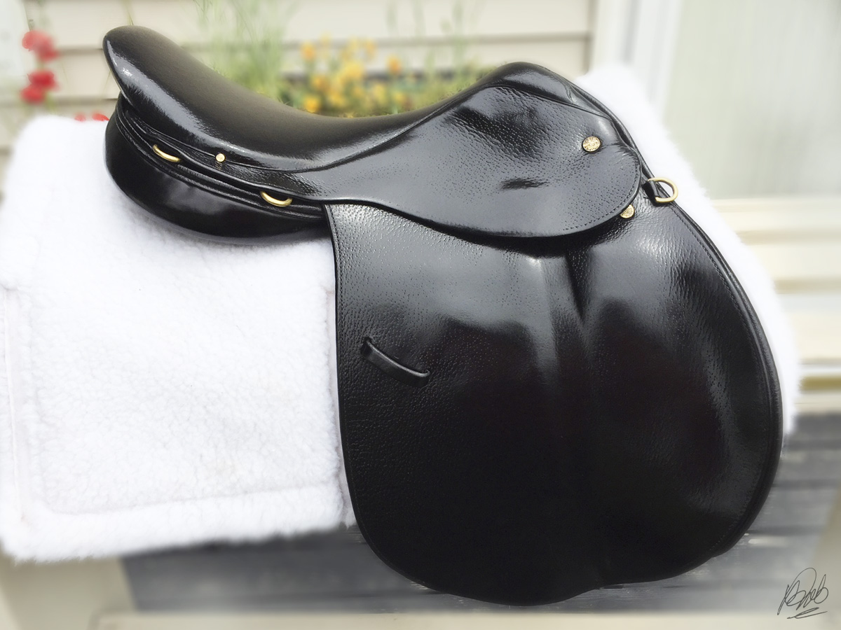 After dyeing the saddle black