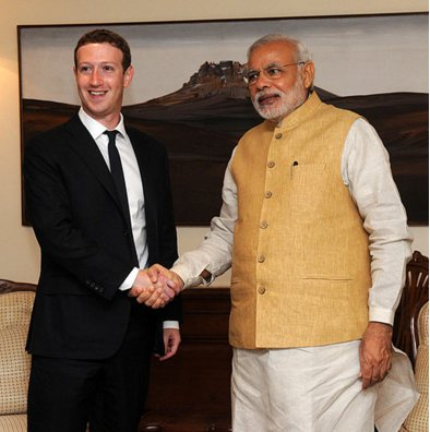 Invitation To Narendra Modi From Facebook HQ For Next Townhall Q&A