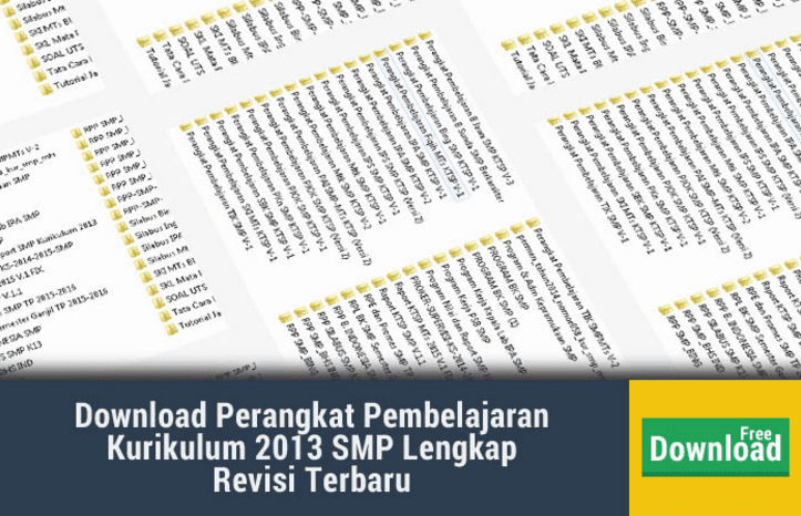 Perangkat Pembelajaran Kurikulum 2013 Smp Lengkap Revisi 2017 Nasional Net
