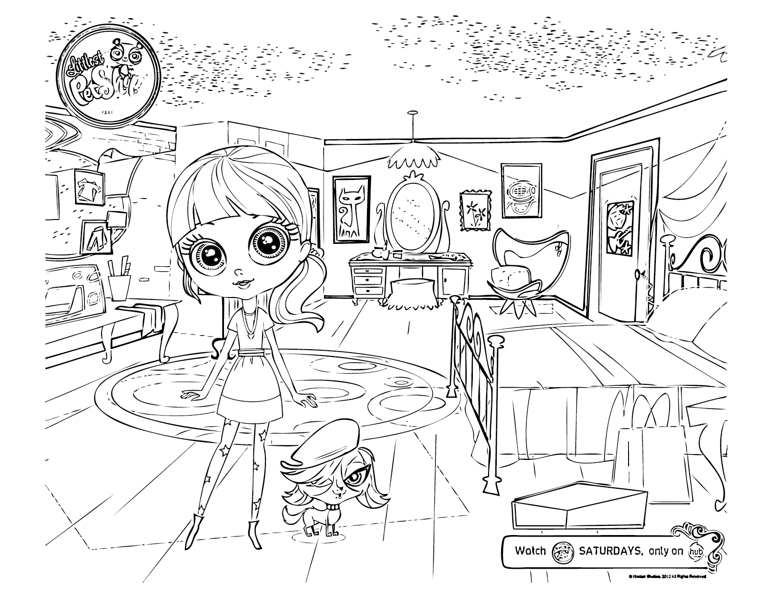 Littlest pet shop coloring pages squid army for Shop coloring page