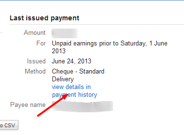 Google adsense Check status tracking step 2
