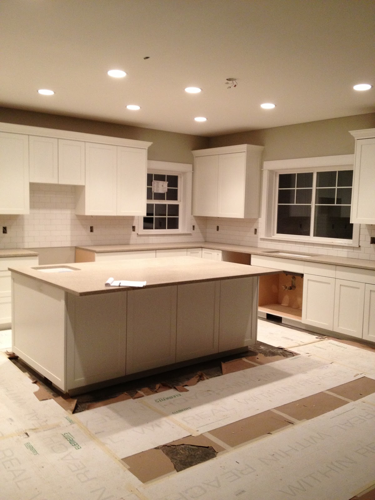 amusing kitchen island counter | Building our dream home, from the ground up: Progress ...