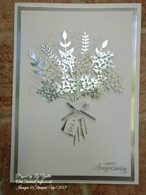 Silver Anniversary Card using Beautiful Bouquet