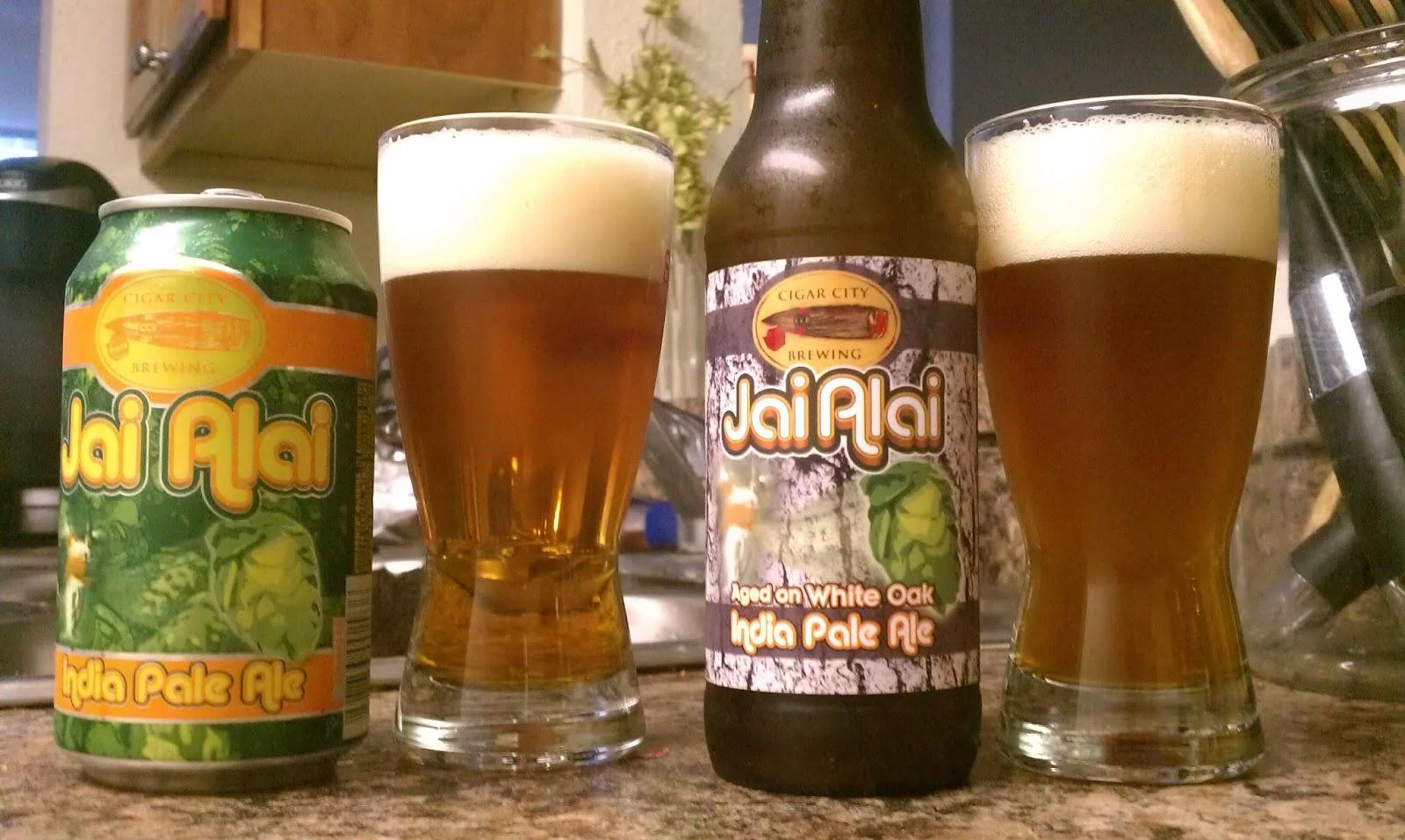 Beer Apostle Cigar City Jai Alai Vs White Oak Aged Jai Alai