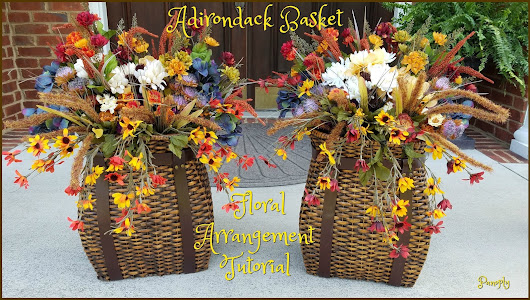 Adirondack Basket Floral Arrangement Tutorial