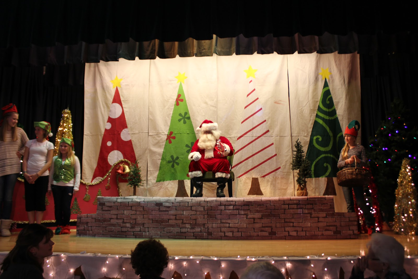 44 Best Images About Church Program Ideas For Christmas On: Christmas Decorations For School Stage